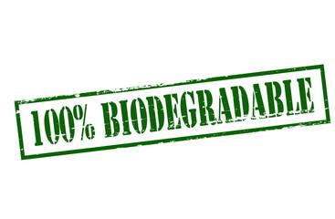 One hundred percent biodegradable