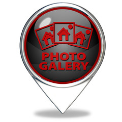 Photo galery pointer icon on white background