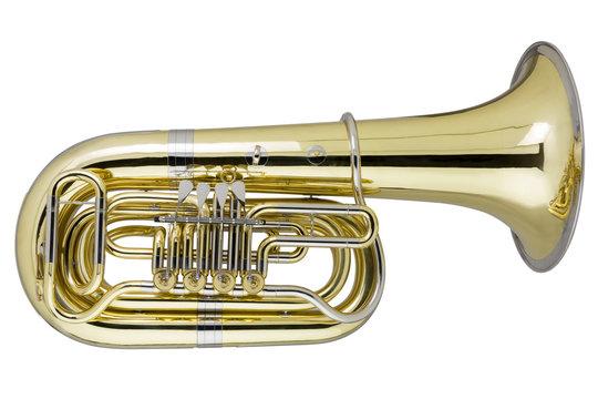 Tuba auf weissem Hintergrund
