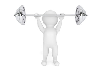 3d Person the lifting weight