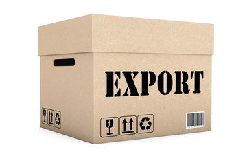 Box with Export Sign