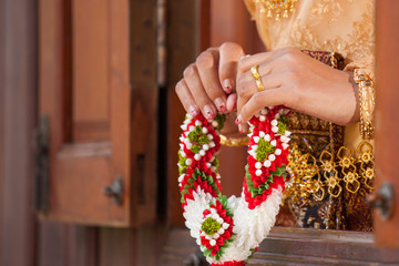 Wedding Details and garlands of thai style