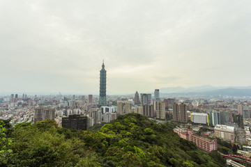 Foto auf Gartenposter Paris panoramic cityscape of modern urban city taiwan.