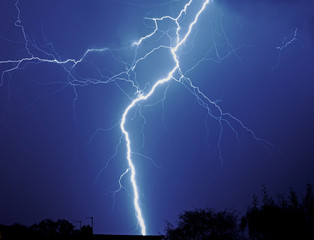 Photo sur cadre textile Tempete Lightening storm