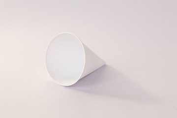 Close up of paper cone cup.