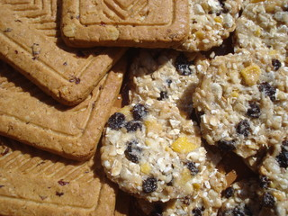 Sweet cereals biscuits on plate
