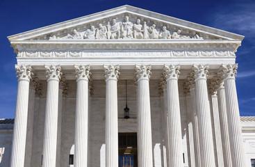 US Supreme Court Capitol Hill Statues Daytime Washington DC