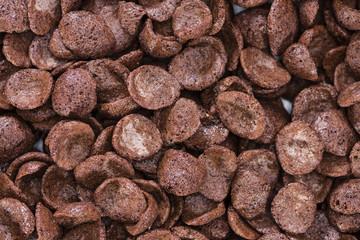 Chocolate cornklakes background