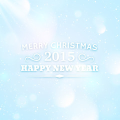 Typography for christmas and 2015 new year