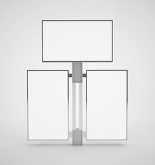 3d display stand consisting of three panels