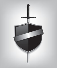 Sword and black shield