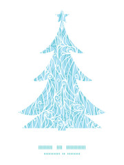 Vector abstract frost swirls texture Christmas tree silhouette