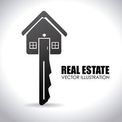 Real estate design over white background vector illustration