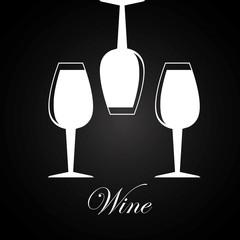 Wine design over black background vector illustration