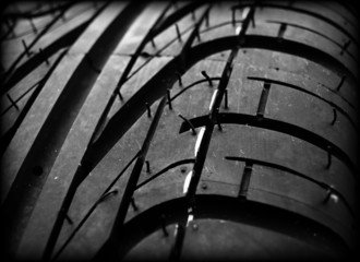 Close up on a tire