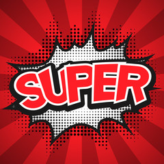 Comic Speech Bubble. Super Vector illustration