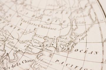 世界地図 東アジア
