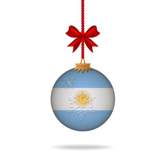 Christmas ball flag Argentina
