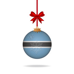 Christmas ball flag Botswana
