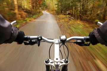 schneller Fahrradfahrer