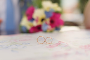 Rings on Cafe Table