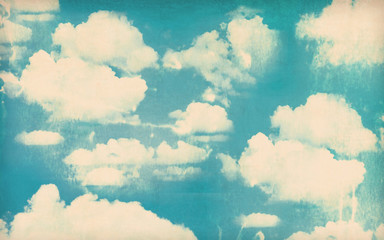 Foto op Canvas Retro Vintage cloudy sky background