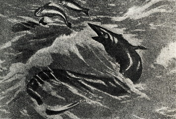 Tylosaurus proriger by Charles R. Knight, 1899