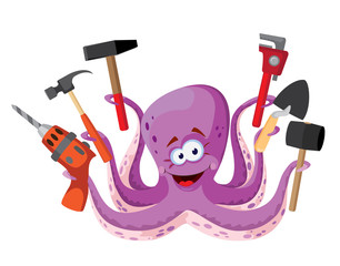 octopus with tools