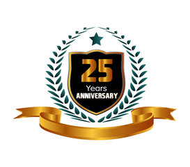 Celebrating 25 Years Anniversary - Laurel Wreath