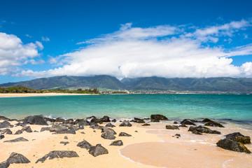 View of Kahului from Kanaha Beach Park,Maui