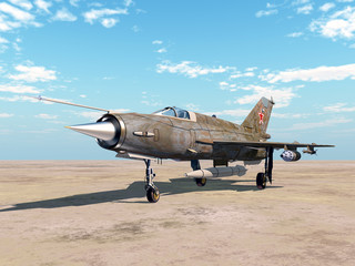 Soviet supersonic jet fighter aircraft of the cold war