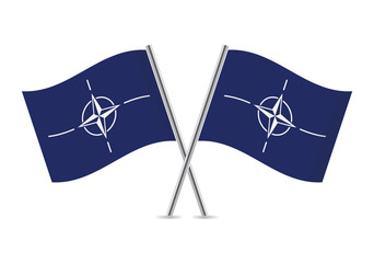 Nato flags. Vector illustration.