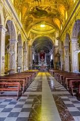 Inside the cathedral of Acireale ( Maria Santissima Annunziata)