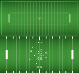 Set of American football field background. Soccer field. eps10