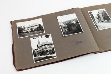 Album um 1890 mit Häusern Fotoalbum