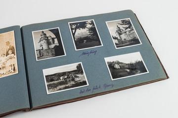 Altes Fotoalbum um 1890 mit Landschafts Bildern