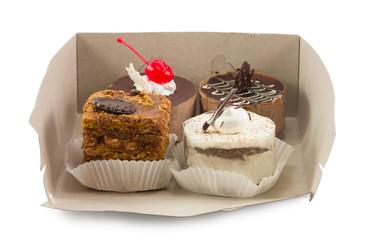 cake box isolated on white background