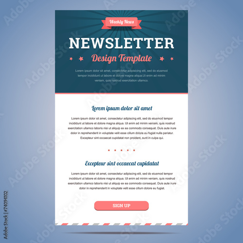Newsletter Design Template Stock Image And Royalty Free Vector