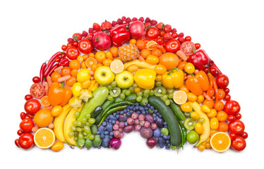Photo sur Aluminium Fruit fruit and vegetable rainbow