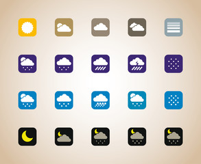 Weather Square Icons