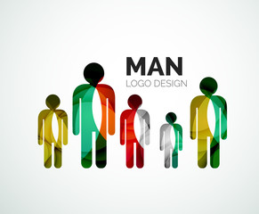 Abstract logo - man icon