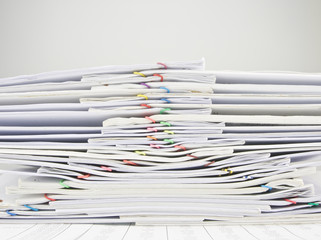 Pile of old paperwork overload