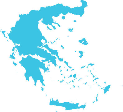 High detailed vector map of Greece