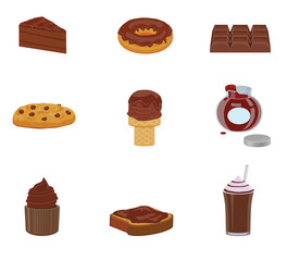 Chocolate food and snacks