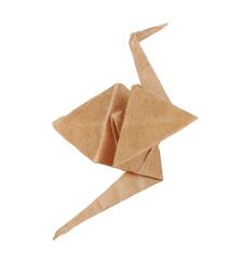 Origami crane, isolated on white
