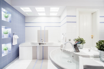 Modern bright toilet interior