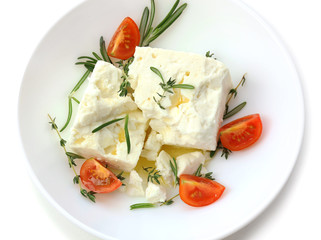 Feta cheese close-up