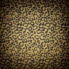 Animal skin print with glitter background
