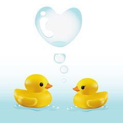 BATH DUCK with love Bubbles