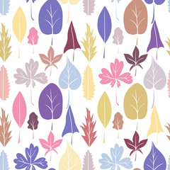 vector seamless pattern with leaves